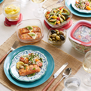 A variety of sizes easily go from the kitchen to the grill to the table.