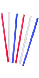 10 in traditional colored straws