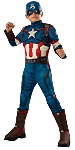 Deluxe Muscle Chest Kids Captain America Costume
