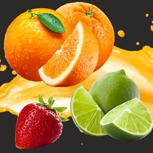 Fresh Essential Hand Sanitizer, 50 ml (Orange, Lemon, Strawberry - Pack of