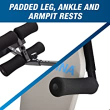 padded leg, ankle and armpit rests