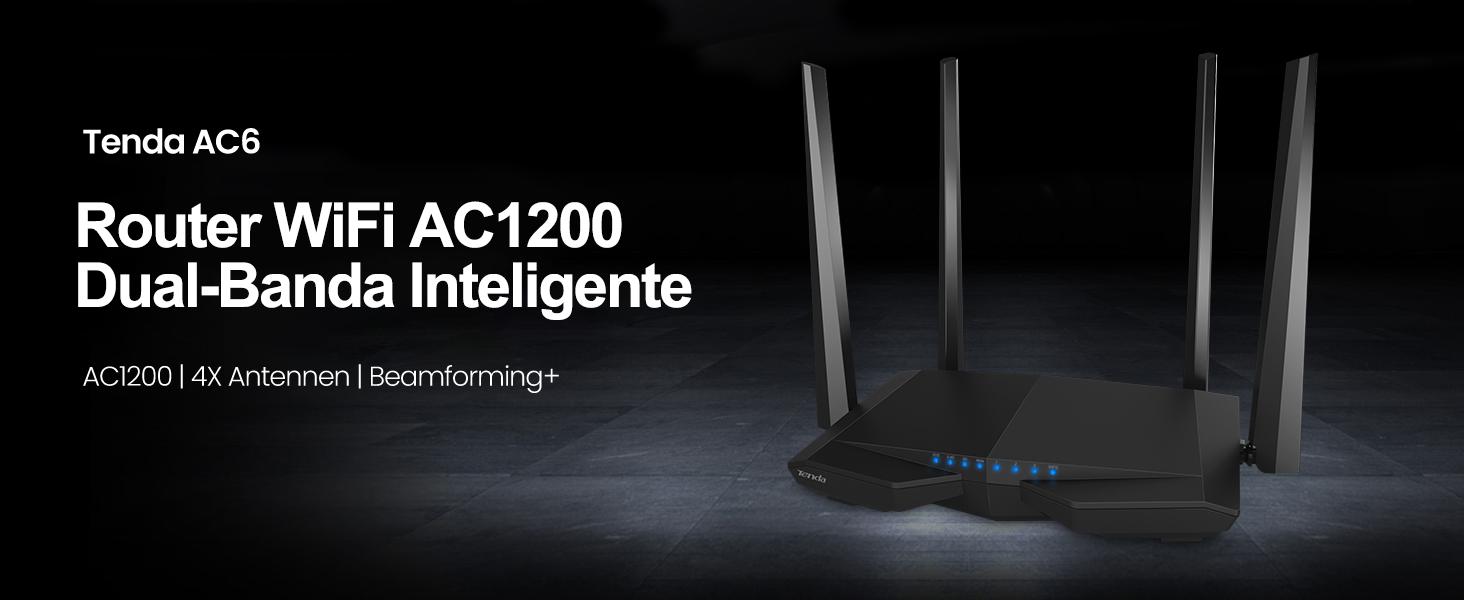 Tenda AC6 Router Inalámbrico Inteligente de Doble Banda ...