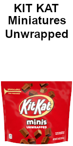 kit kat kitkat unwrapped mini miniatures chocolate chocolates hershey hersheys