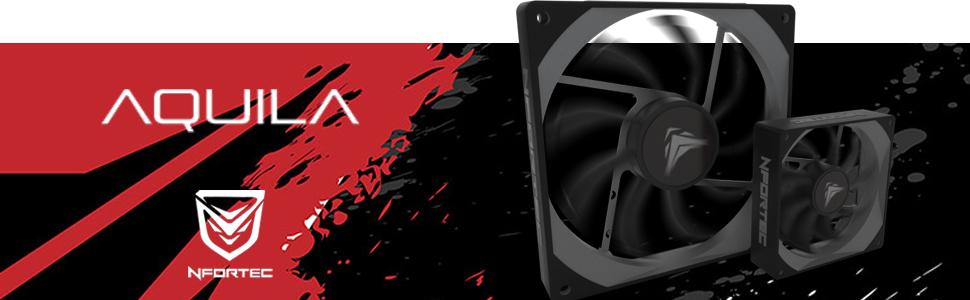 Nfortec Aquila 120 - Ventilador suplementario, color negro: Amazon.es: Informática