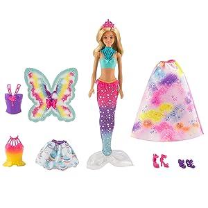 Barbie Dreamtopia Doll 18 LOOKS Princess Mermaid RAINBOW COVE Fairy