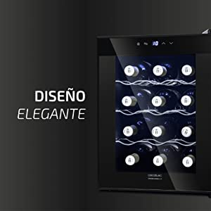 Cecotec Vinoteca Grand Sommelier 1200 CoolCrystal. 12 Botellas ...