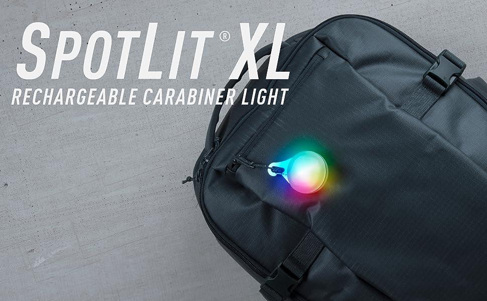 Spotlit XL, rechargeable spotlit, rechargeable carabiner light