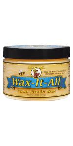 Howard Products Wax it all food grade wax cutting board butcher block stone metal furniture polish