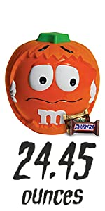 MARS Chocolate Halloween Candy Variety Mix M&M'S Pumpkin Party Bowl