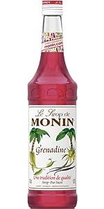 Monin Syrup Mix Mixer Concentrate Flavour Sweet Fruity Juicy Convenient Cocktail Mocktail Soda Vegan