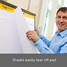 Post-it Easel Pads, Sheets easily tear off pad