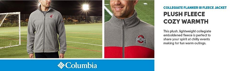 Columbia Men's Collegiate Flanker III Fleece Jacket