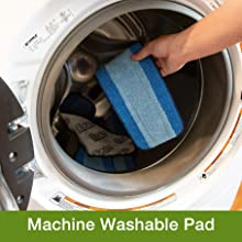 machine washable pad, sustainable, reusable, microfiber