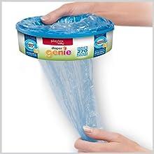 diaper diapers genie gennie pail ubbi disposal refill refills bag bags elite carbon filter pale