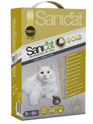 Sanicat Gold 5L, Arena de Gatos, Aroma a Talco