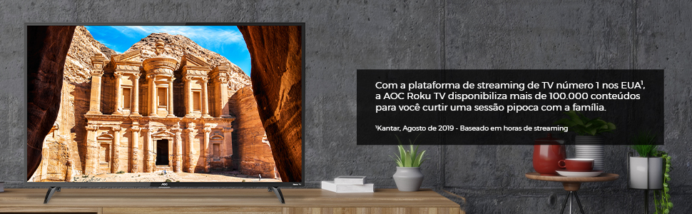 roku tv, aoc, aoc roku tv, 43 polegadas, hd, aplicativos, smart tv