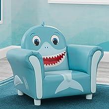 kids chair seat boys girls toddler children baby shark blue delta children playroom furniture
