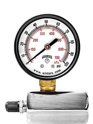 pressure gauge, gas test gauge