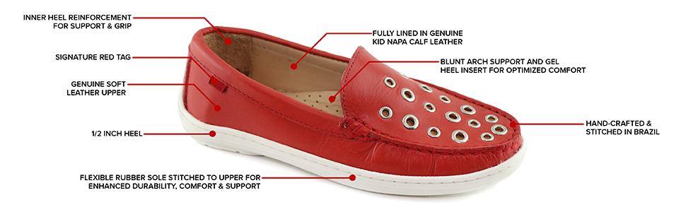 boat shoe, kids, Marc Joseph, New York, loafer, leather, Handcraft