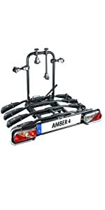 Eufab 11556 Fahrradträger Amber 4 Black Ca 102 X 83 X 72 Cm Auto