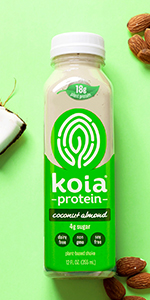 koia coconut almond plant based protein shake dairy free drink