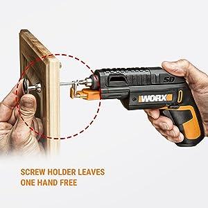WORX WX255L SD Semi-Automatic Power Screw Driver with Screw Holder 14