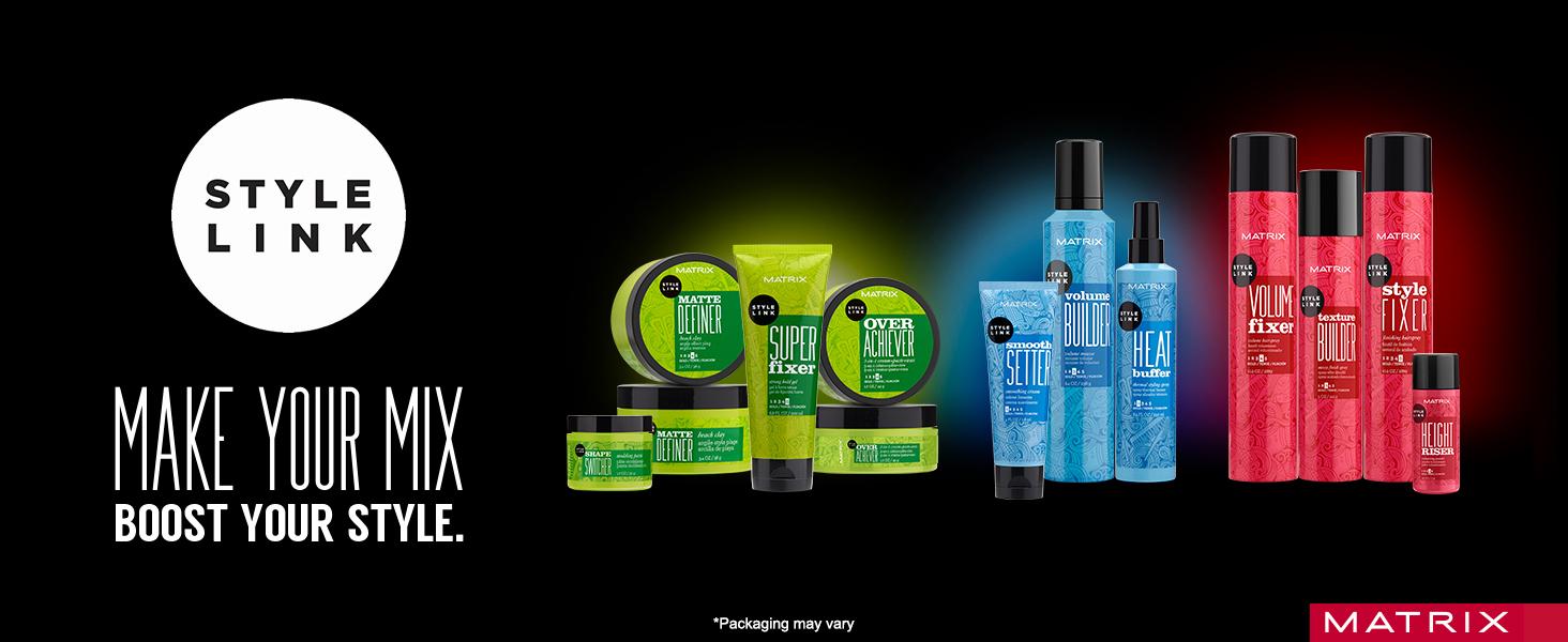 matrix, style link, styling, styler, salon, hair product, hairspray, blow dry, paul mitchell