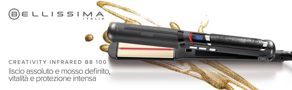 Imetec Bellissima creativity infrared B8 100 piastra per capelli tecnologia infrarossi ceramica