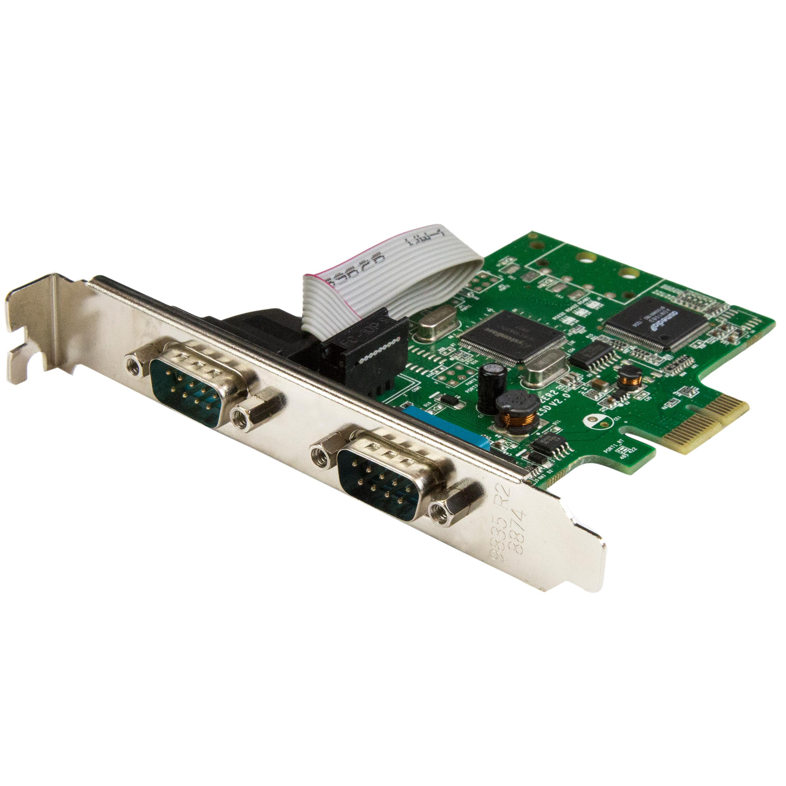 StarTech com PCI Express Serial Card - 2 Port - Dual Channel 16C1050 UART -  Serial Port PCIe Card - Serial Expansion Card