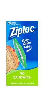 Ziploc सैंडविच बैग