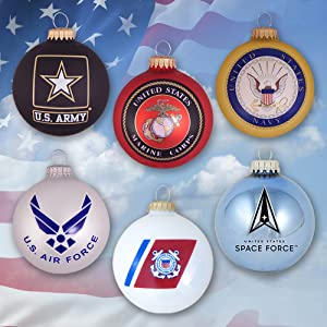 officially licensed military ornaments marines army navy air force coast guard space force