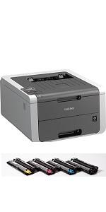 Brother HL-3140CW con toner inclusi
