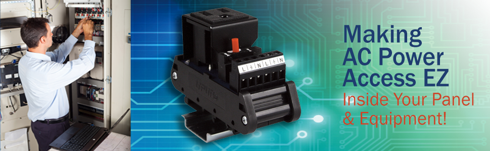 DIN Rail Mount AC Outlets and AC Power Receptacles