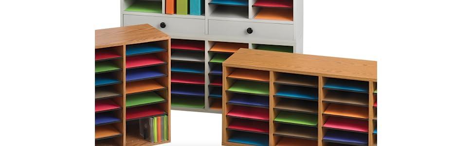 Amazon.com: Organizador para libros, hecho en madera y con ...