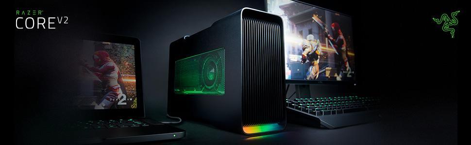 Razer Core V2: Thunderbolt 3 External Graphics Enclosure (eGPU) for Windows  10 and Mac External Graphics Laptops