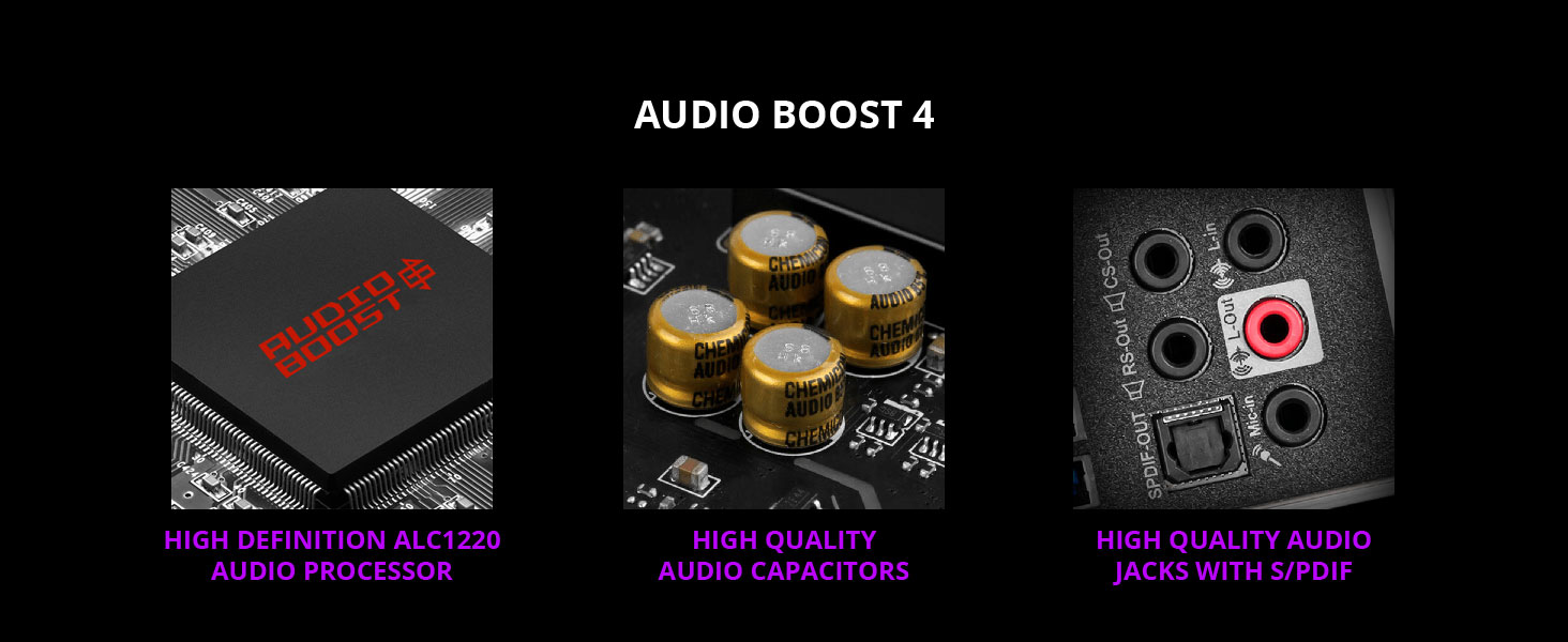 msi, mpg z490 gaming carbon wifi, audio boost 4, surround sound, 5.1, 7.1, 3.5mm, spdif