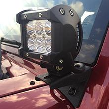 Jeep JK A-Pillar Windshield Hinge Mounting Brackets