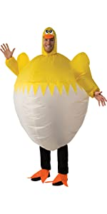 funny chick costume, chicken in an egg costume