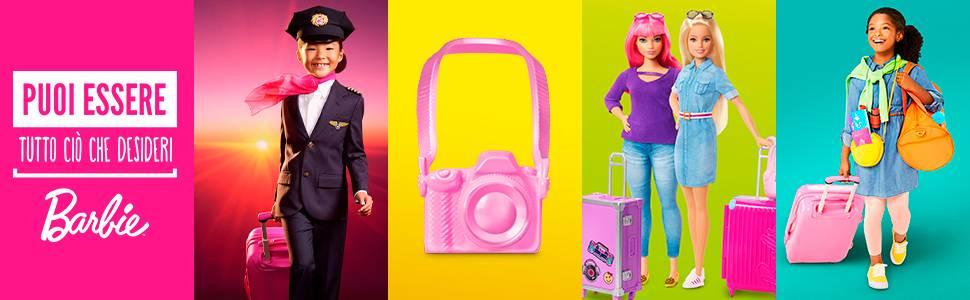 Barbie- Aereo, Playset Veicolo e Accessori, Bambola Non Inclusa, Giocattolo per Bambini 3+ Anni
