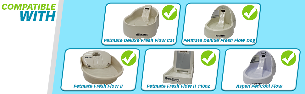 Petmate Deluxe Fresh Flow, Petmate Fresh Flow II, Aspen Pet Cool Flow