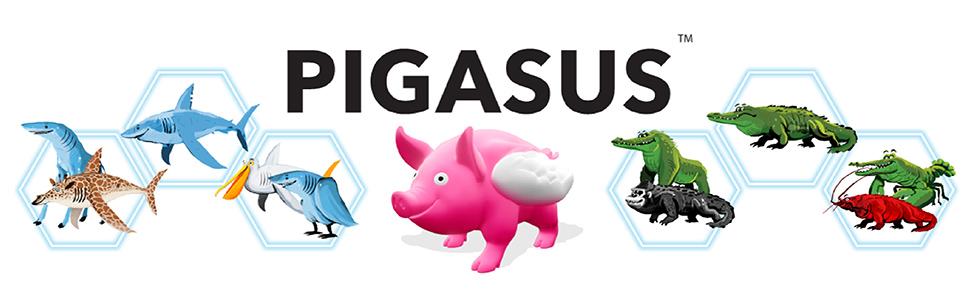 Pigasus, children's game, kids game, family game, card game, fun game, board game