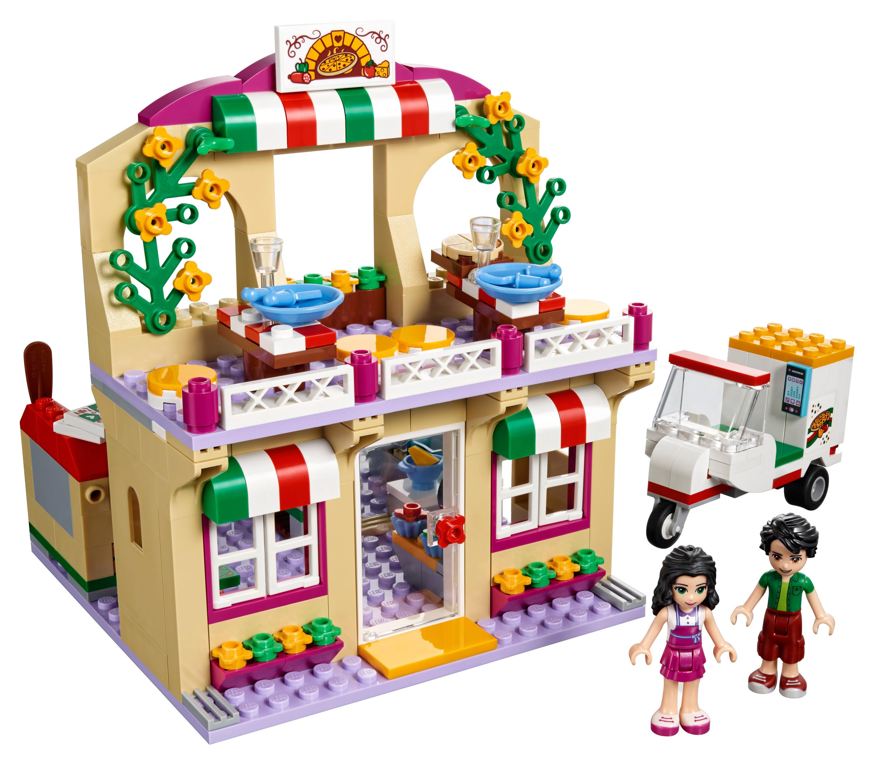 lego friends 41311 heartlake pizzeria spielzeug f r 6 j hrige spielzeug. Black Bedroom Furniture Sets. Home Design Ideas