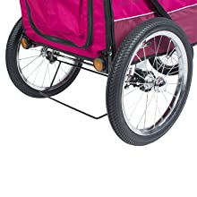 Large Bike Tires on Petique All Terrain Pet Jogger with Tire Pump for Dogs and Cats