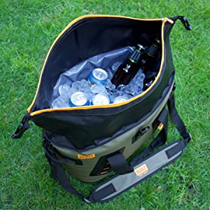 5575e06d19f9 BUILT 5230641 Welded Soft Portable Cooler with Wide Mouth Opening -  Insulated and Leak-Proof, Large, Pewter Gray