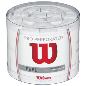 Wilson Pro Overgrip Perforated Empuñadura, 60 unidades, unisex, blanco