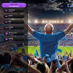 benq football projector