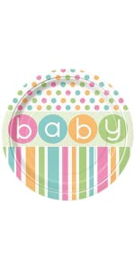 Pastel Baby Shower Dinner Plates, 8ct · Pastel Baby Shower Dessert Plates,  8ct · Pastel Baby Shower Napkins, 16ct · Pastel Baby Shower Cocktail Napkins,  ...