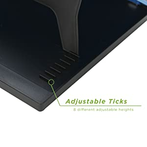 adjustable height laptop desk