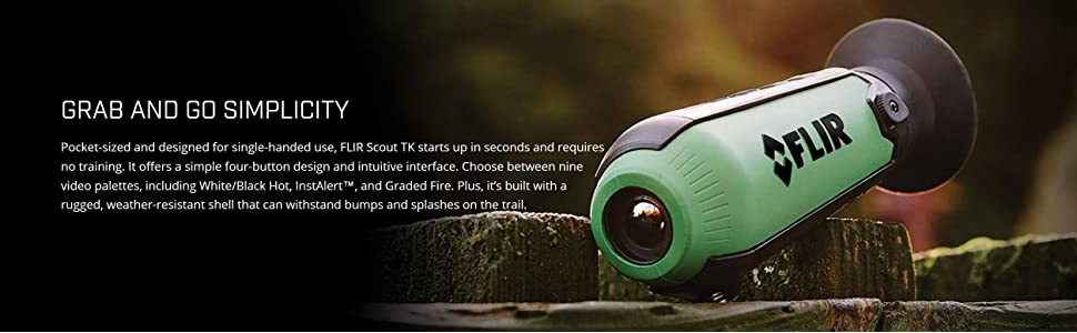 Scout TK; Compact monocular; Thermal imaging; Outdoors