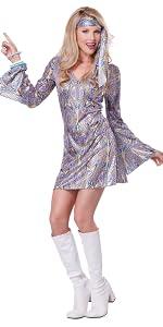 Disco, 70's, 1970's, GoGo Dancer, Seventies,  Studio 54, women's Costume, Halloween, Dance Costume